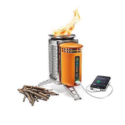 BioLite Camp Stove USB Charger Camping Generator With Flexlight Wood Burning