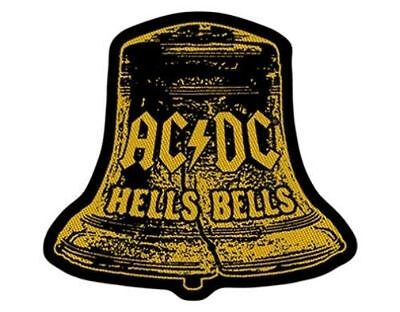 AC/DC hells bells cut out 2015 - WOVEN SEW ON PATCH - free shipping