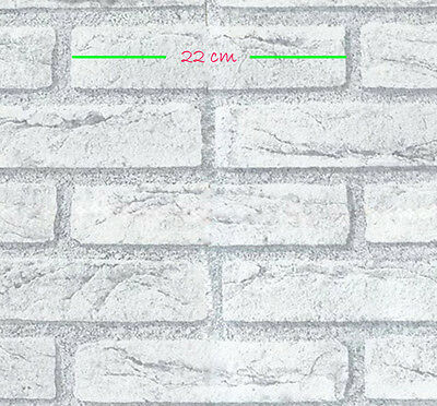 1m/m White Brick Interior vinyl wall makeover Wallpaper Self adhesive
