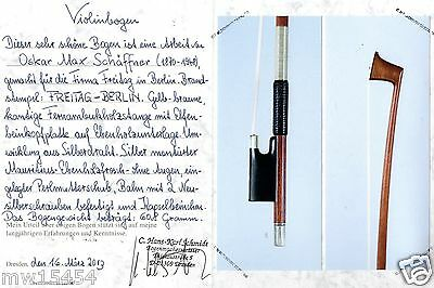 Private COLLECTION to SELL  70:  A Fine German VIOLIN BOW by *SCHAEFFNER*