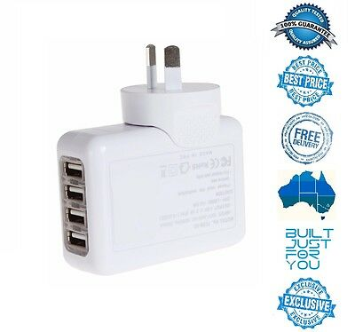 4 USB Port AC Wall Charger for Apple iPhone 6S 6 7 Plus iPad iPod mini Samsung