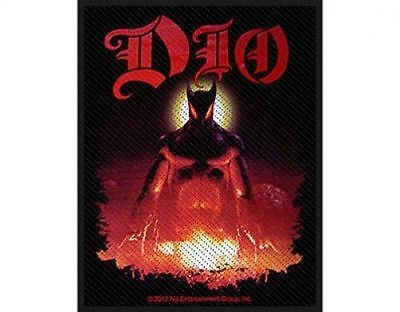 DIO last in line 2012  - WOVEN SEW ON PATCH - free shipping