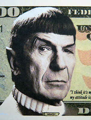 Spock FREE SHIPPING Million-dollar novelty bill
