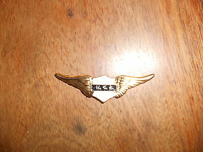 "Metal Rickman Winged Usa Motor Cycles  Emblem  2 1/4 "" Wide 1/2 "" High  Bc37712T"