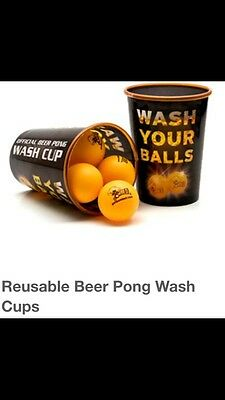 Beer Pong Wash Cups & 6 Official Balls Get Pong!