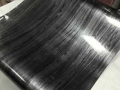 Wood Grain adhesives Vinyl - Black Wood GW5001 ( Choose Your Size )