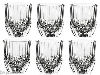 Set of 6 RCR Luxion Crystal Adagio 35cl Whiskey Glasses