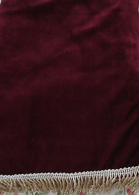 Piano cover - Suitable for all types of upright pianos - dark red colour