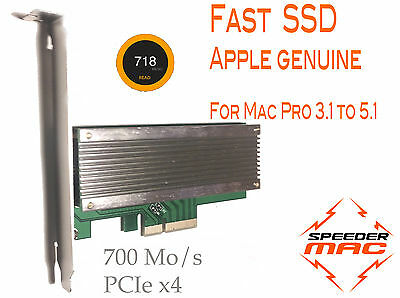  SSD APPLE  PCI Express x4,  128 Go, 700Mo/s pour Mac Pro 3.1, 4.1 ou 5.1