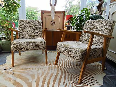 A Pair Of Vintage East German / Danish Style Lounge Armchairs C1970 Au16/6 • £390.00
