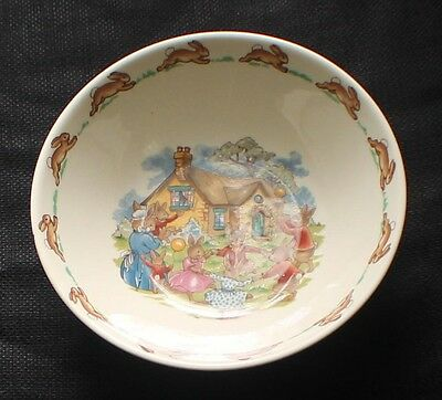 Vintage ROYAL DOULTON BUNNYKINS Bone China RING RING ROSEY Coupe Cereal Bowl