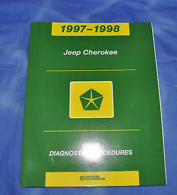 1997 1998 Jeep Cherokee Body Diagnostic Factory Service Shop Repair Manual OEM