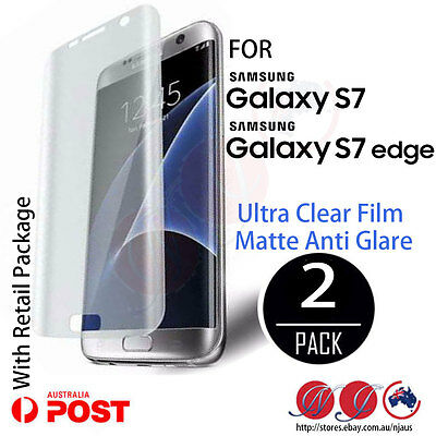 2x Full coverage Screen Protector For Samsung Galaxy S7 edge and S7 Matte /clear