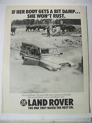 1976 Land Rover The One They Based The Rest On Australian Magazine Advertisement