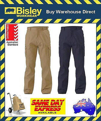 Bisley Workwear 8 Pocket Mens Cargo Cotton Drill Work Trouser Pants BPC6007