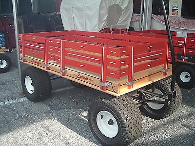 """AMISH-MADE CHILD'S WOOD WAGON, 24""""x48"""" Brand New (830) Speedway Express"""