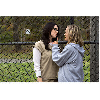 Orange Is the New Piper and Alex Speaking by The Fence 8 x 10 inch photo