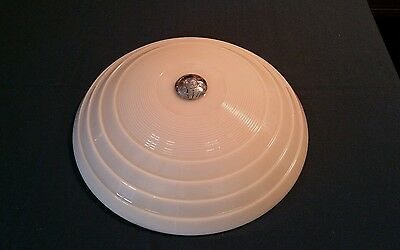 Vtg Antique Art Deco Jadeite Light Fixture Ceiling Chandelier Tier Glass Pendant