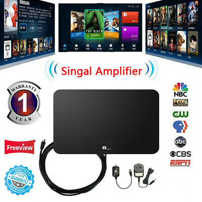 1byone 50 Miles Digital Indoor HDTV TV Antenna w/ Amplifier High Gain Low Noise