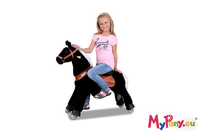"Ponycycle ""Black Beauty"" Horse small Rocking horse Pony horse on casters"