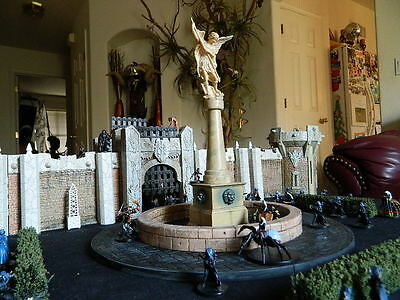 """Huge Fountian. 13"""" base Dungeons & Dragons D&D Mage Knight  terrain RPG castle"""