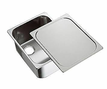NEW Sink Caravan / Boat / RV  Polished Stainless Steel Sink with Lid/ Top cover