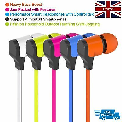 Headphones IN Ear Earphones Hands Free With Mic Volume Control Deep Bass Mobile