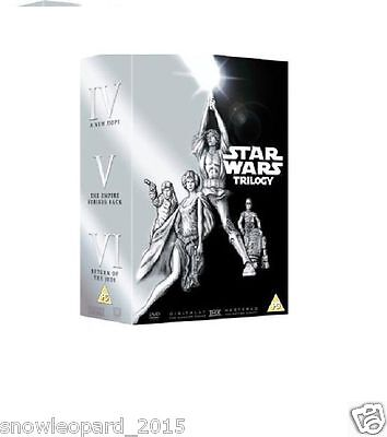STAR WARS ORIGINAL TRILOGY PART 1 2 3 BOX SET DVD Episode 4 5 6 Film UK Movie R2