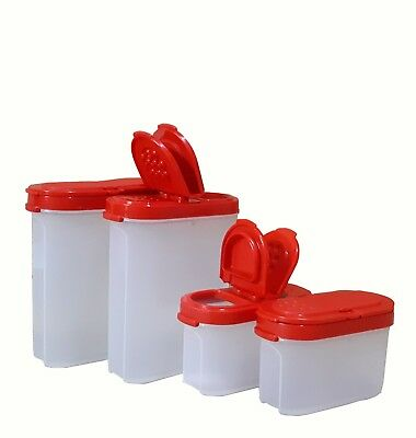 New Tupperware Modular Spice Shaker Set Of 4 Shakers (2 Large & 2 Small)