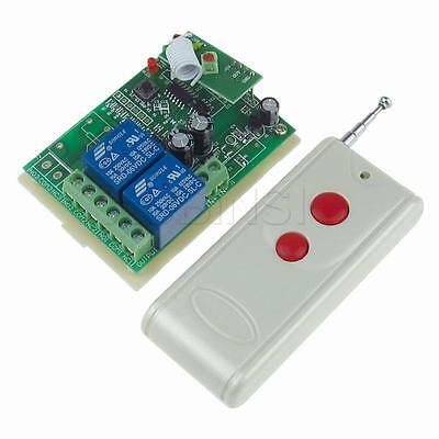 DC 6V 2CH Wireless Remote Control Relay Board 2 Red Buttons Transmitter Receiver