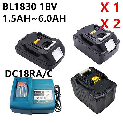 18V Batterie + chargeur f Makita BL1830 BL1840 LXT Lithium-ion 3,0Ah 4,0Ah New