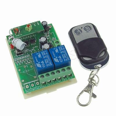 2CH RF Wireless Remote Control Switch Learning Receiver Garage Door Opener DC24V