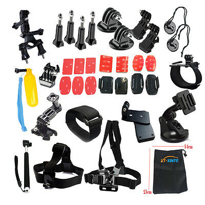 XT-XINTE 40-in-1 Accessory Kit Outdoor Sport Accessory for GoPro 4 3+ 3 2 1