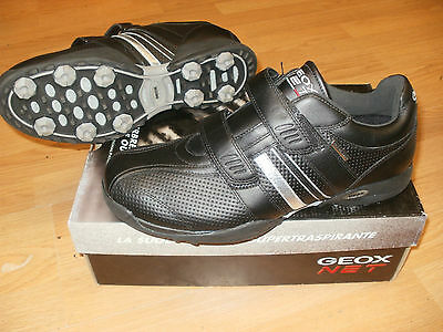 Chaussures golf geox Mfusion3 noire et argent taille 44 UK 10 neuf