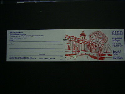 1986 national gallery  booklet fp2a complete unused