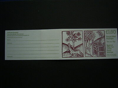 1988 wolf and birds   booklet fu6b complete unused