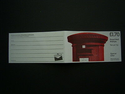 1985 pillar box write now  booklet ft5a complete unused