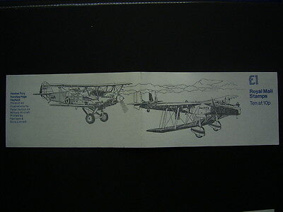 1980 hawker hart &handley page heyford  booklet fh3a complete unused