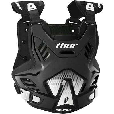 Thor MX NEW Sentinel GP Roost Chest Protector Black White Body Armour - XL/2XL
