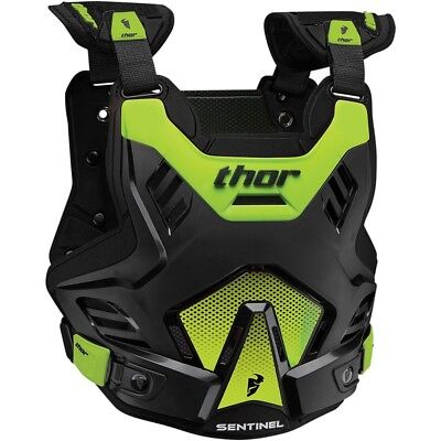 Thor MX NEW Sentinel GP Roost Chest Protector Black Green Body Armour - M/L