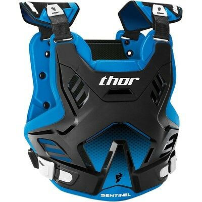 Thor MX Kids NEW Sentinel GP Roost Chest Protector Black Blue Youth Body Armour
