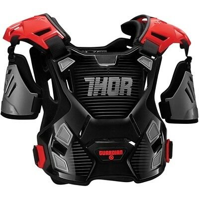 Thor MX NEW Guardian Chest Protector Black Red Adult Motocross Body Armour - M/L