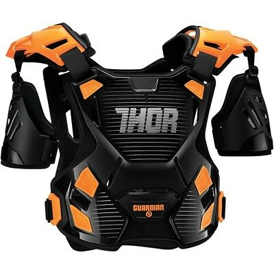 Thor MX NEW Guardian Chest Protector Black Orange Motocross Body Armour - M/L