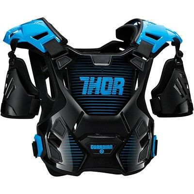 Thor MX NEW Guardian Chest Protector Black Blue Motocross Body Armour - M/L
