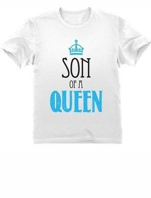 Son of a Queen Mommy And Me Mother's Day Cute Toddler/Infant Kids T-Shirt Gift