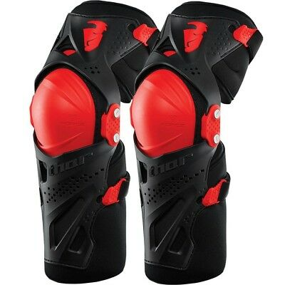 Thor MX NEW Kids Force XP Black Red Youth Full Dirt Bike Motocross Knee Guards