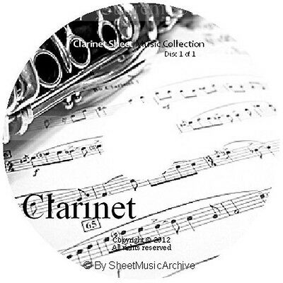 Massive Professional Clarinet Sheet Music Collection Archive Library on DVD