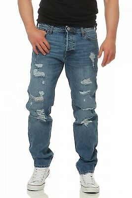 JACK & JONES - MIKE ORIGINAL AM437  - Comfort Fit - Blau Herren Jeans Hose