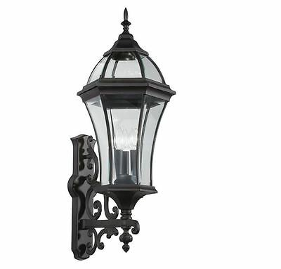 outdoor porch patio wall exterior sconce lighting light lamp fixture black new