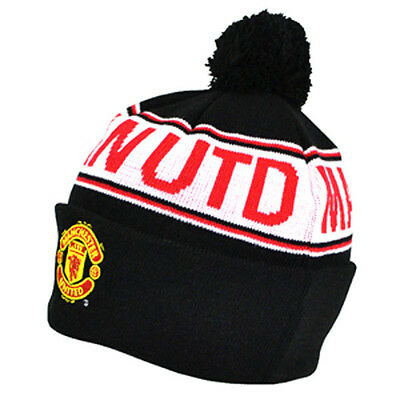 Official Manchester United FC  Bobble Beanie Hat    FREE (UK)  P+P